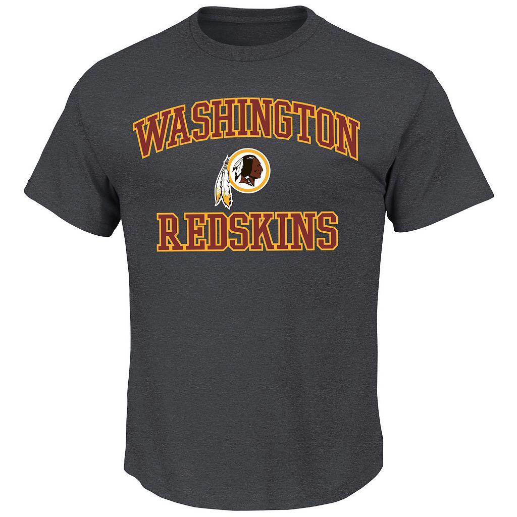 Big & Tall Majestic Washington Redskins Heart & Soul Tee