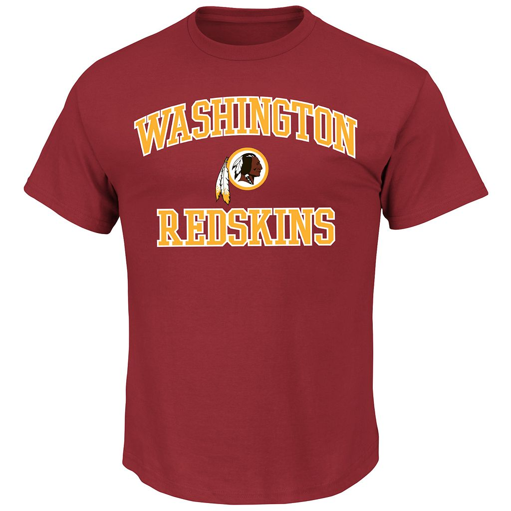 Big & Tall Majestic Washington Redskins Heart & Soul Tee