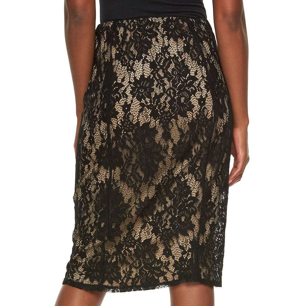 Women's Apt. 9® Lace Midi Skirt
