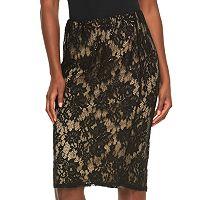 Women's Apt. 9® Lace Midi Skirt