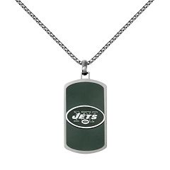 Men's Stainless Steel New York Jets Dog Tag Necklace