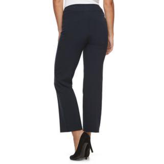 Petite Croft & Barrow® Pull-On Straight-Leg Dress Pants
