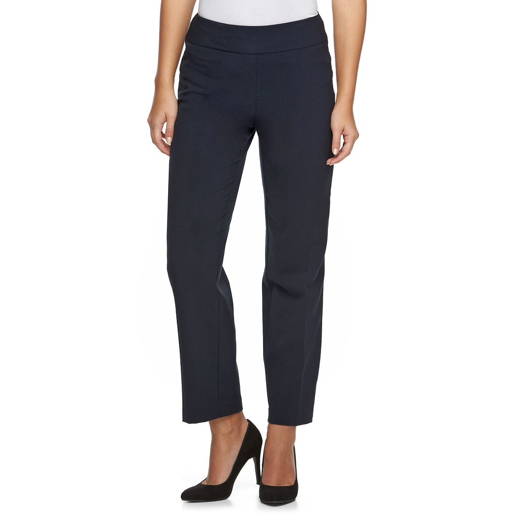 Petite Croft & Barrow® Pull-On Straight-Leg Dress Pants