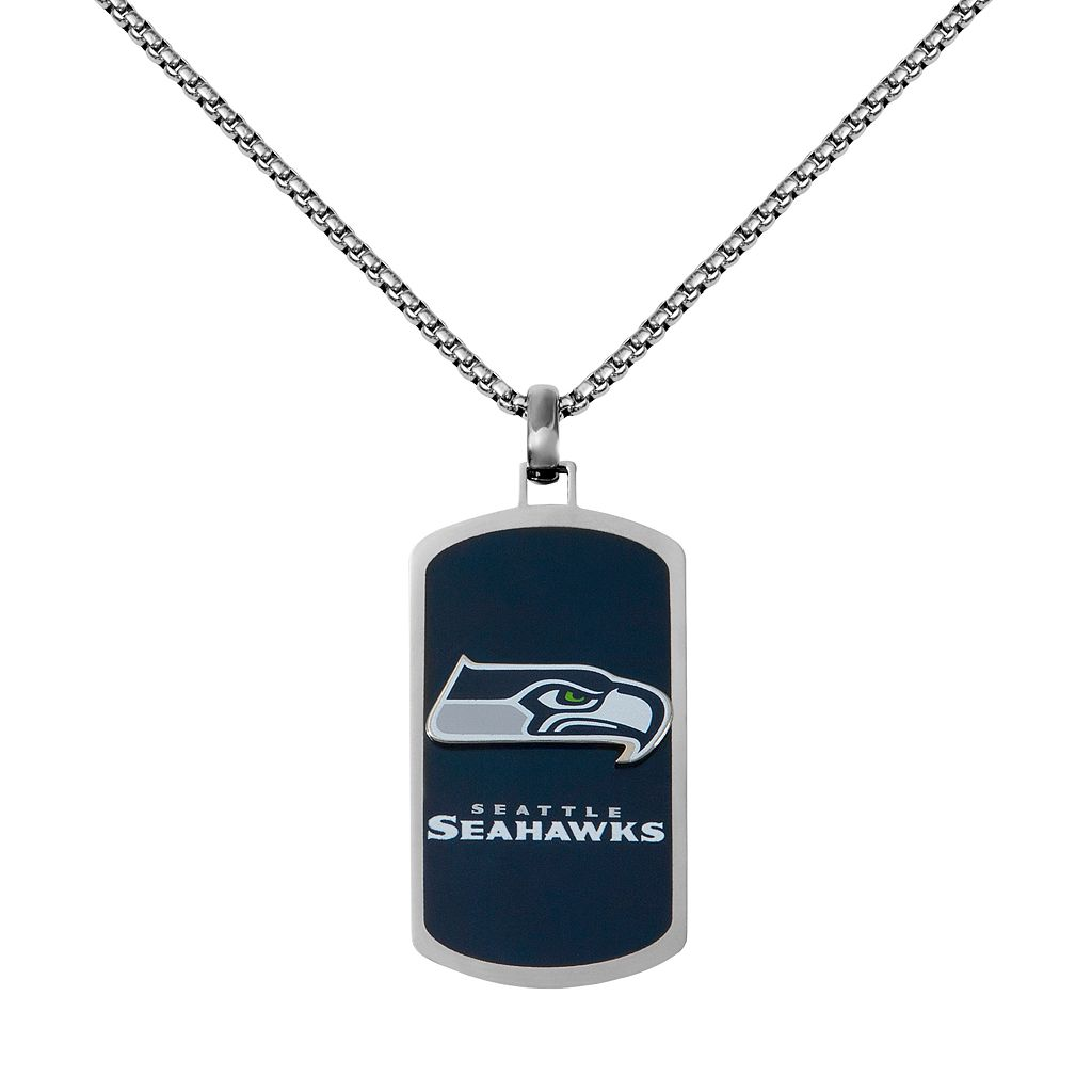 Men's Stainless Steel Seattle Seahawks Dog Tag Necklace