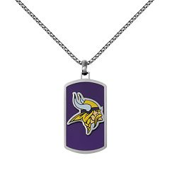 Men's Stainless Steel Minnesota Vikings Dog Tag Necklace