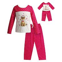 Girls 4-14 Dollie & Me Kitten Queen Pajama Set