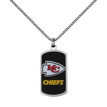Men's Stainless Steel Kansas City Chiefs Dog Tag Necklace