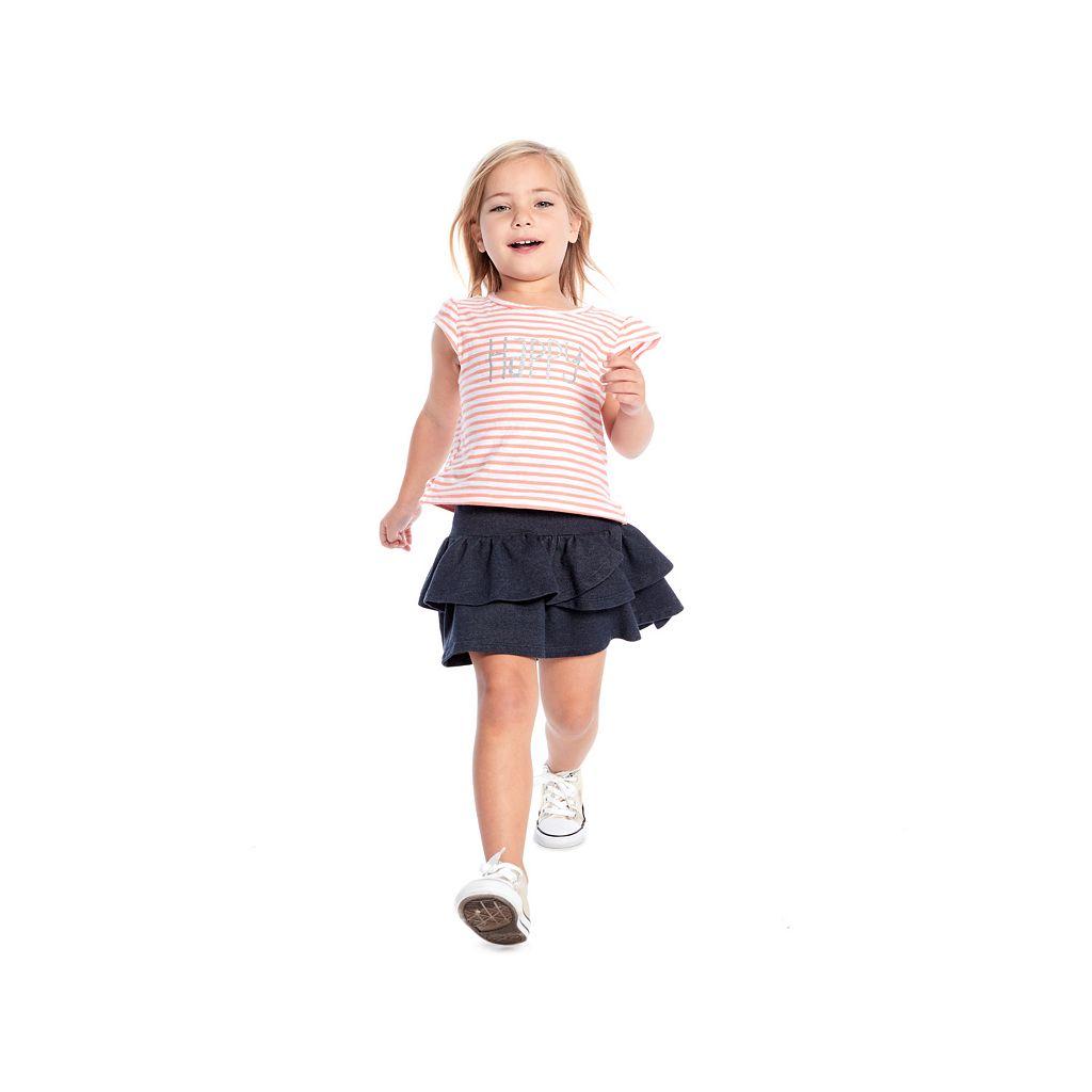 Girls 4-10 Jumping Beans® Striped Glitter Tee
