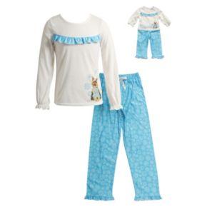 Girls 4-14 Dollie & Me Snowflake Dog Pajama Set