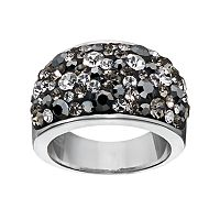 Confetti Gray Crystal Dome Ring