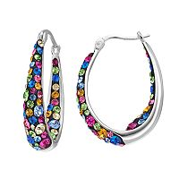 Confetti Crystal Inside Out U-Hoop Earrings