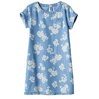 Girls 4-7 SONOMA Goods for Life™ Floral Chambray Dress