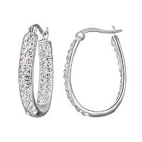 Confetti Clear Crystal Inside Out U-Hoop Earrings