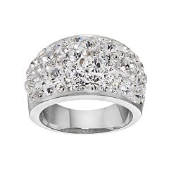 Confetti Clear Crystal Dome Ring
