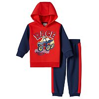 Baby Boy Boyzwear Monster Truck Fleece Hoodie & Pants Set