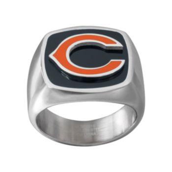 Men's Stainless Steel Chicago Bears Ring