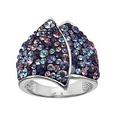 Confetti Crystal Asymmetrical Ring