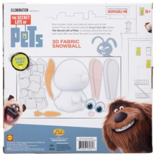 ALEX Toys The Secret Life of Pets 3D Fabric Snowball