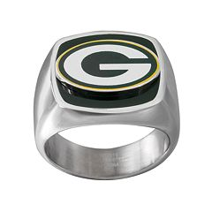 Men's Stainless Steel Green Bay Packers Ring