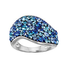 Confetti Crystal Wave Ring