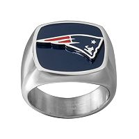 Men's Stainless Steel New England Patriots Ring