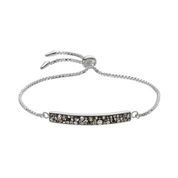 Confetti Gray Crystal Bolo Bracelet
