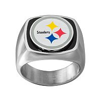 Men's Stainless Steel Pittsburgh Steelers Ring