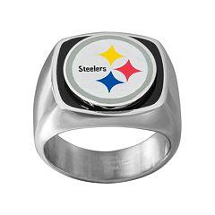 Men's Stainless Steel Pittsburgh Steelers Ring