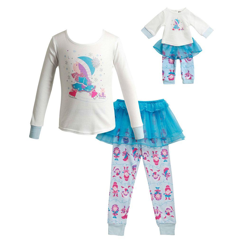 Girls 4-14 Dollie & Me Ice Skating Pajama Set