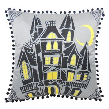 Essentials Ghost House Throw Pillow