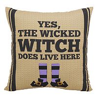Essentials ''Wicked Witch'' Throw Pillow