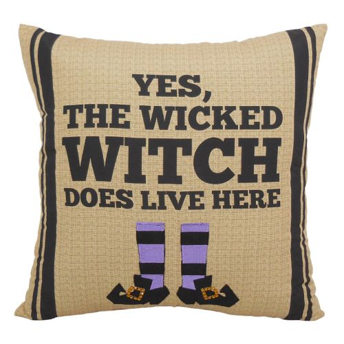 """Essentials """"Wicked Witch"""" Throw Pillow"""