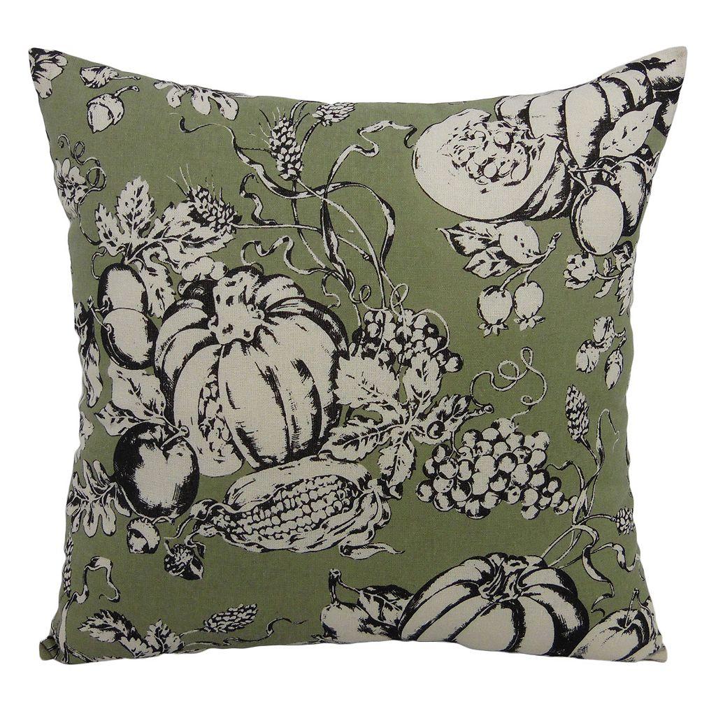 Essentials Pumpkin Toile Throw Pillow