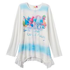 Girls 7-16 DreamWorks Trolls 'Smile Sing Dance Hug' 4-Point Graphic Tunic