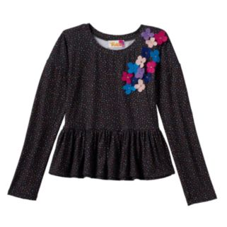 Girls 7-16 DreamWorks Trolls Polka-Dot Floral Top
