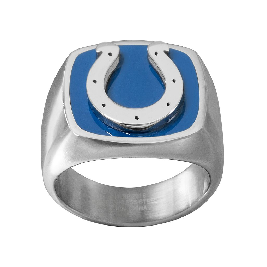 Men's Stainless Steel Indianapolis Colts Ring