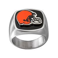 Men's Stainless Steel Cleveland Browns Ring