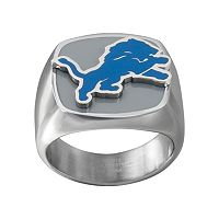 Men's Stainless Steel Detroit Lions Ring