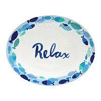 Celebrate Summer Together Costal Melamine Oval Platter