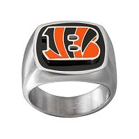 Men's Stainless Steel Cincinnati Bengals Ring