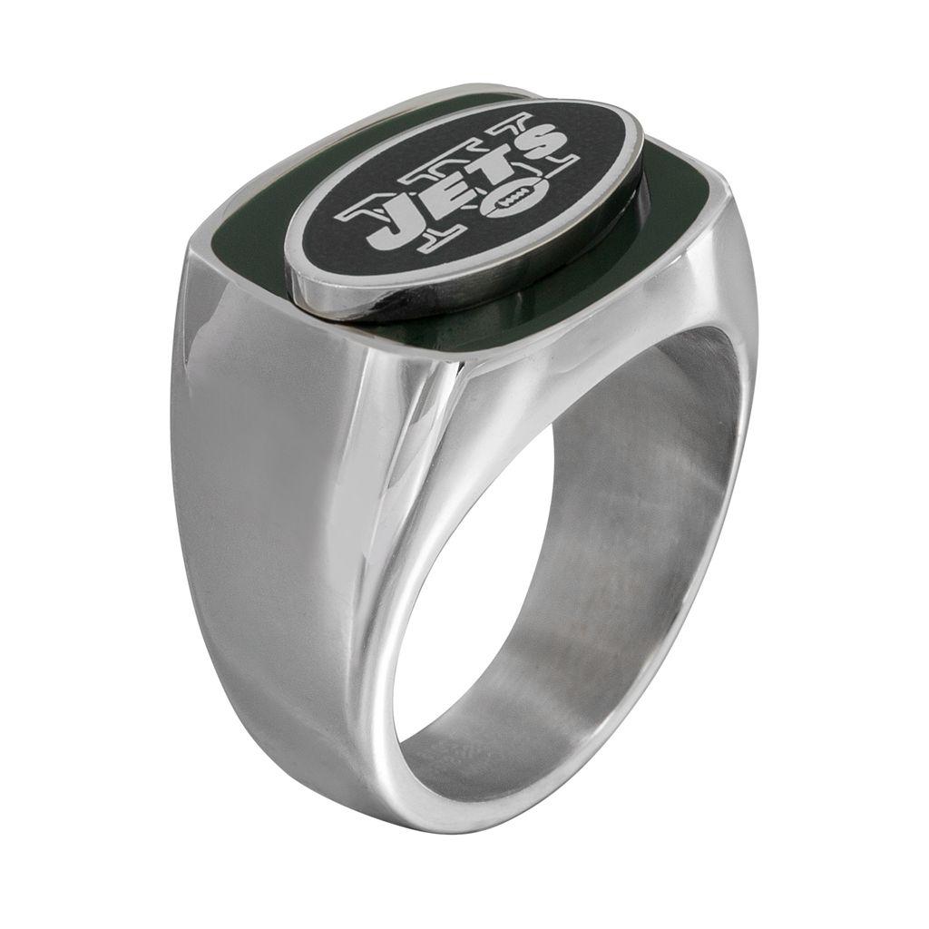 Men's Stainless Steel New York Jets Ring