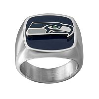 Men's Stainless Steel Seattle Seahawks Ring