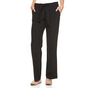 Women's Apt. 9® Bow Wide-Leg Dress Pants