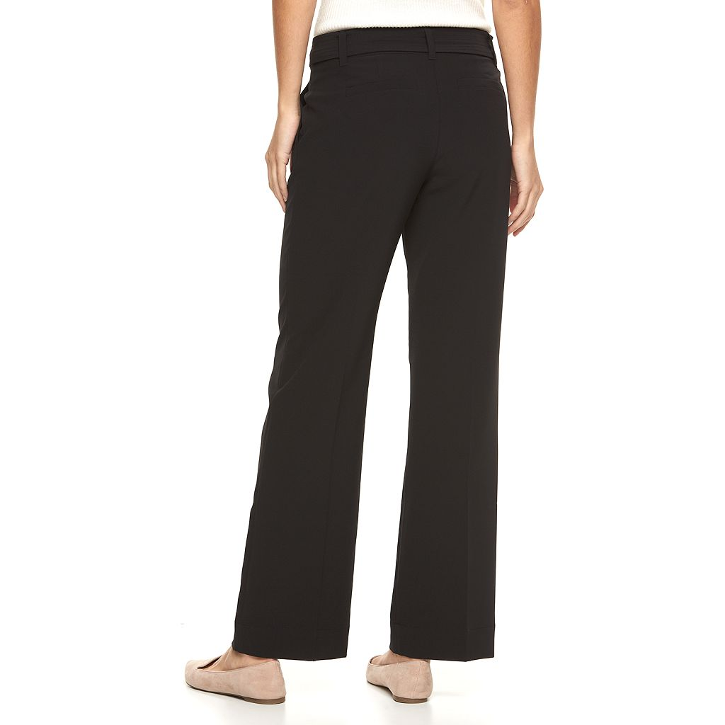 Women's Apt. 9® Bow Wide-Leg Dress Pants