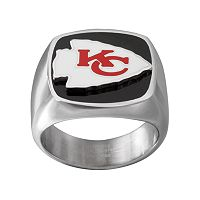 Men's Stainless Steel Kansas City Chiefs Ring