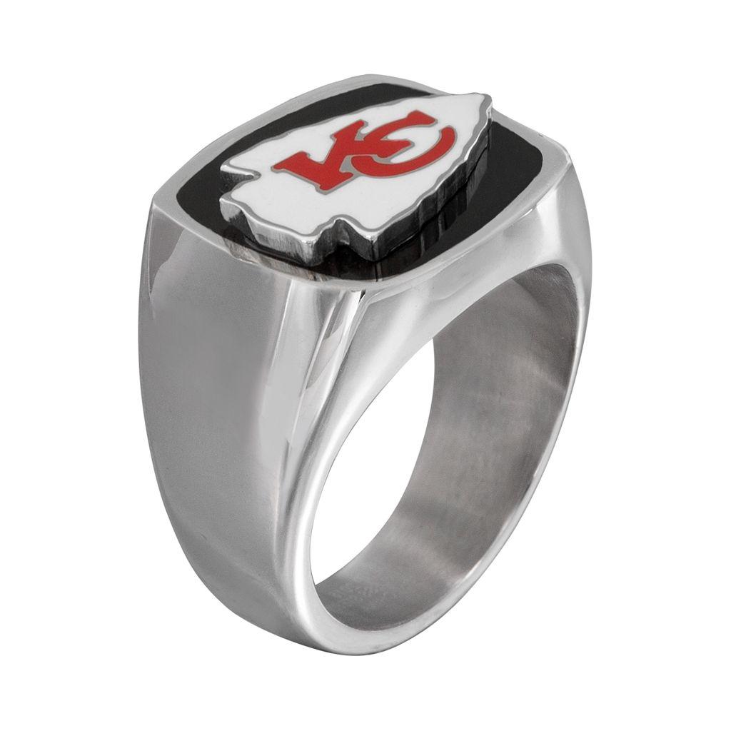 Men's Stainless Steel Kansas City Chiefs Ring