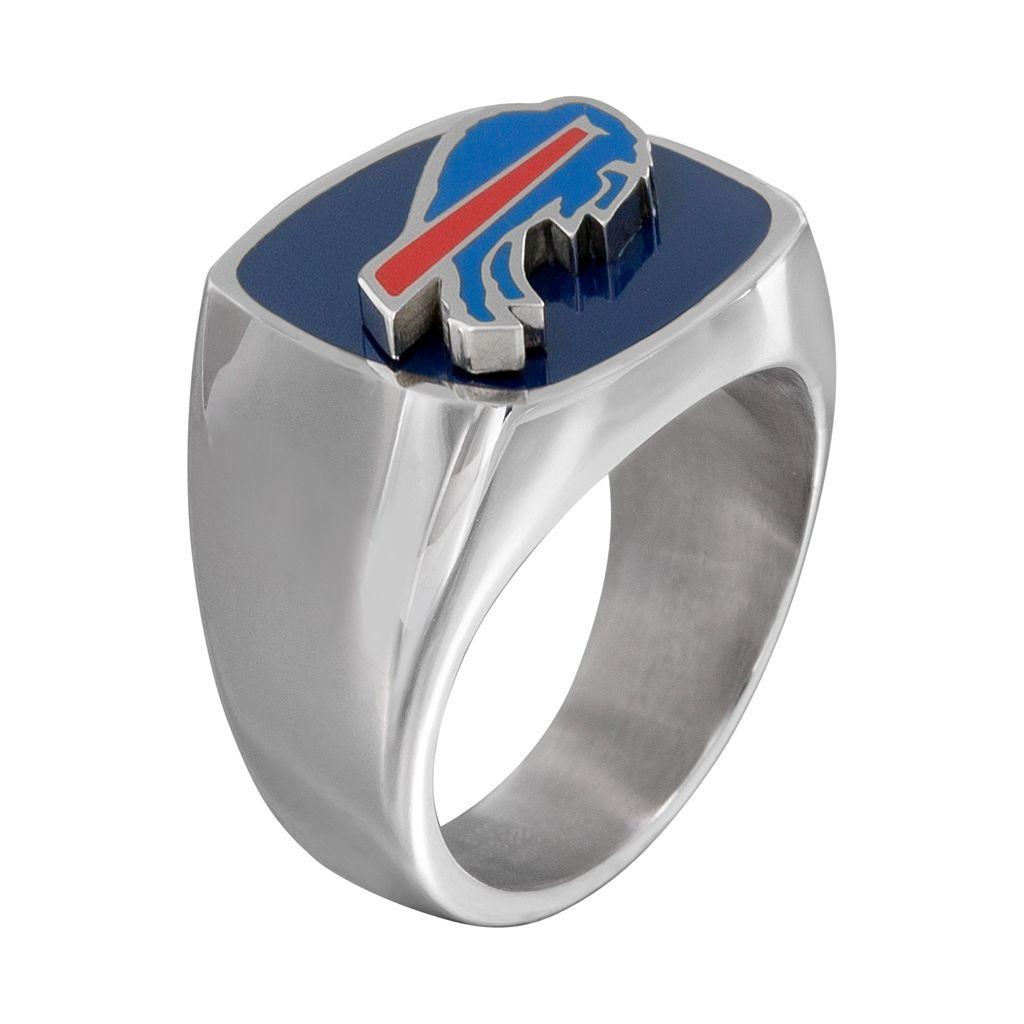 Men's Stainless Steel Buffalo Bills Ring