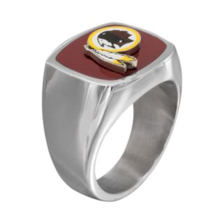 Men's Stainless Steel Washington Redskins Ring