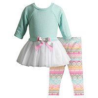 Baby Girl Youngland Tulle Sweaterdress & Fairisle Leggings Set