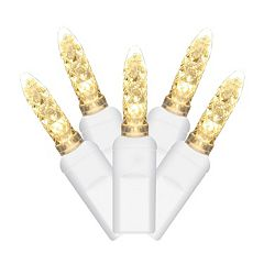 Vickerman 70 Light Warm White M5 LED Icicle Christmas Lights